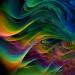 Fractal multicolored waves