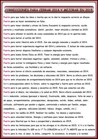 correcciones 2014 2015